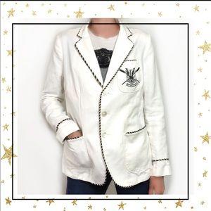 Ralph Lauren Linen/Cotton White military jacket C2